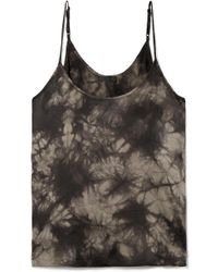 ATM - Tie-dyed Crinkled Silk-charmeuse Camisole - Lyst