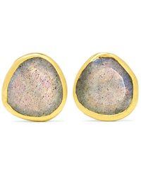 Pippa Small - 18-karat Gold Labradorite Earrings - Lyst
