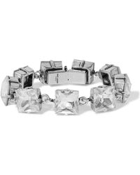 Saint Laurent - Smoking Silver-tone And Crystal Bracelet - Lyst