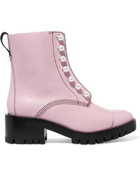 3.1 Phillip Lim - Pink Pearl Lug Hayett Boots - Lyst