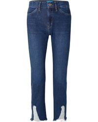 M.i.h Jeans - Cult Distressed Mid-rise Straight-leg Jeans - Lyst