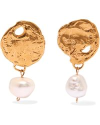 Alighieri - Beacon Gold-plated Pearl Earrings Gold One Size - Lyst