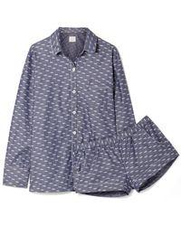 Three J Nyc - Emily Cotton-jacquard Pajama Set - Lyst