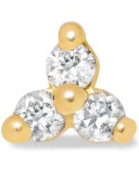 Maria Tash - Tiny 18-karat Gold Diamond Earring - Lyst