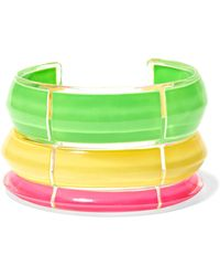 Alison Lou - Jelly Set Of Three Lucite And Enamel Cuffs - Lyst
