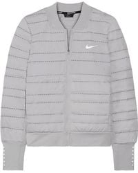 Nike - Aeroloft Perforated Quilted Dri-fit Shell And Stretch-jersey Down Jacket - Lyst