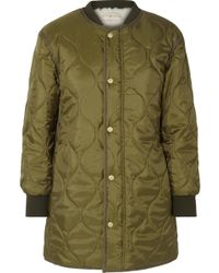 Tory Burch - Rylee Shell And Faux-shearling Coat - Lyst