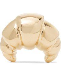 Alison Lou - Croissant 14-karat Gold Earring - Lyst