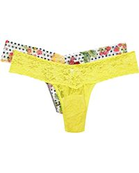 Hanky Panky - Signature Set Of Two Stretch-lace Thongs - Lyst