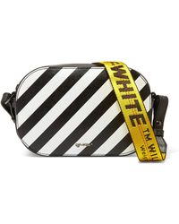 Off-White c/o Virgil Abloh - Striped Textured-leather Camera Bag - Lyst