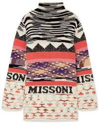 Missoni - Intarsia Wool-blend Mini Dress - Lyst