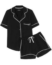 DKNY - Signature Pyjama Aus Jersey Aus Einer Baumwollmischung - Lyst