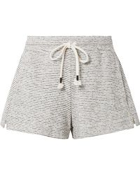 Skin - Teeghan Striped Pima Cotton And Modal-blend Pajama Shorts - Lyst