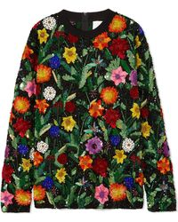 Ashish - Oversized Sequined Cotton Top - Lyst