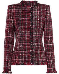 Alexander McQueen - Frayed Tweed Blazer - Lyst