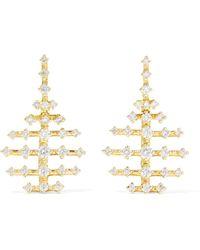 Fernando Jorge - Mini Disco 18-karat Gold Diamond Earrings - Lyst