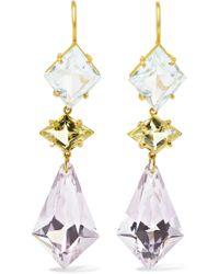 Marie-hélène De Taillac - 18-karat Gold Multi-stone Earrings - Lyst