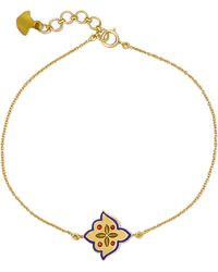 Amrapali - 18-karat Gold Enamel Bracelet - Lyst