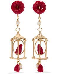 Of Rare Origin - Pagoda Gold Vermeil Multi-stone Earrings - Lyst