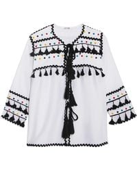 Dodo Bar Or - Embellished Embroidered Cotton-gauze Top - Lyst