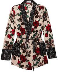 Equipment - Theron Floral-print Silk Robe - Lyst