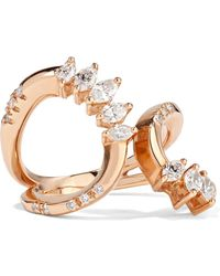 YEPREM - 18-karat Rose Gold Diamond Ring - Lyst