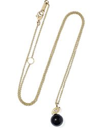 Ippolita - Nova 18-karat Gold, Onyx And Diamond Necklace - Lyst