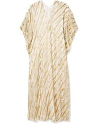 Marie France Van Damme - Ivy Boubou Metallic Striped Silk-blend Jacquard Kaftan - Lyst