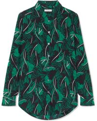 Equipment - Essential Printed Silk Crepe De Chine Shirt - Lyst