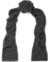 Saint Laurent - Printed Wool Scarf - Lyst