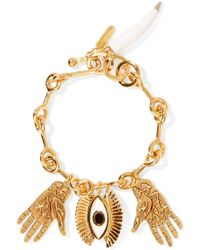 Chloé - Sloan Gold-tone, Enamel And Resin Bracelet - Lyst