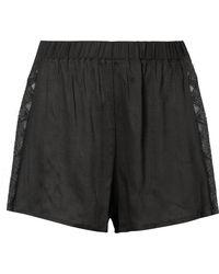 Hanro - Liane Lace-trimmed Gauze Pajama Shorts - Lyst