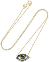 Lito - Tu Es Partout 14-karat Gold Multi-stone Necklace - Lyst