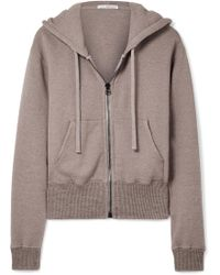 James Perse - Cotton-blend Terry Hooded Top - Lyst