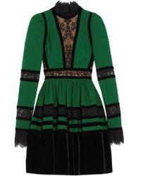 Elie Saab - Long Sleeve Mini Dress - Lyst