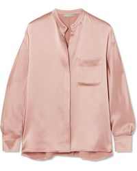 Vince - Silk-satin Blouse - Lyst