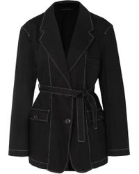 Lemaire - Belted Cotton Jacket - Lyst