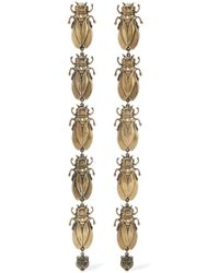 Gucci - Gold-tone, Faux Pearl And Enamel Earrings - Lyst
