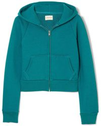 Simon Miller - Burke Distressed Organic Cotton-terry Hooded Sweatshirt - Lyst
