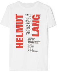 Helmut Lang - Worldwide Printed Cotton-jersey T-shirt - Lyst