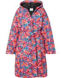 Vetements - Oversized Quilted Floral-print Shell Coat - Lyst