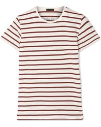 ATM - Striped Stretch-pima Cotton-jersey T-shirt - Lyst
