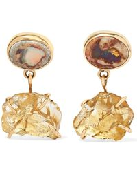 Melissa Joy Manning - 14-karat Gold, Citrine And Opal Earrings - Lyst