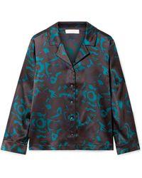 Eres - Beryl Floral-print Silk-satin Pyjama Top - Lyst