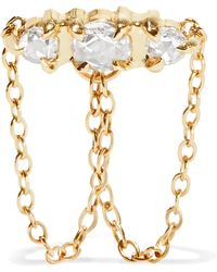 Catbird - Sleeping Beauty Gold Diamond Earring - Lyst