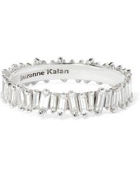Suzanne Kalan - 18-karat White Gold Diamond Ring - Lyst
