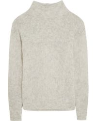 FRAME - - Le Open Mix Stitch Knitted Jumper - Off-white - Lyst