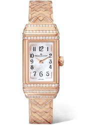 Jaeger-lecoultre - Reverso One Duetto 36.3mm Rose Gold And Diamond Watch - Lyst