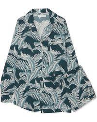 Desmond & Dempsey - Printed Cotton Pajama Set - Lyst