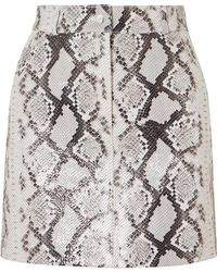 Maje - Jupita Snakeskin Print Leather Skirt - Lyst